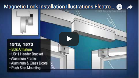 Video: Magnetic Lock Installation Illustrations